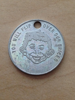 Go to Dimeco Variety Store Good For Token Coin with Alfred E. Neuman • USA