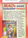 Image of German MAD Magazine Number 182 - Advertisement for the new German paperback