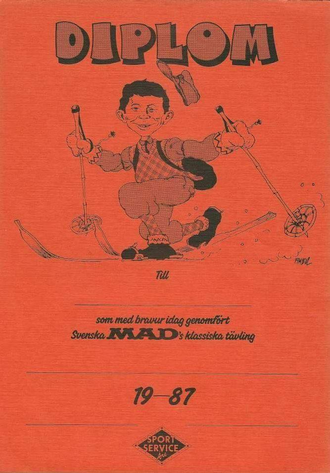 Svenska MAD Telemark Downhill Trophy Diploma • Sweden