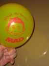 Balloon Office Premium Promo Alfred E. Neuman (USA) Manufactor: E.C. Publications Original price: free Publication Date: 1980