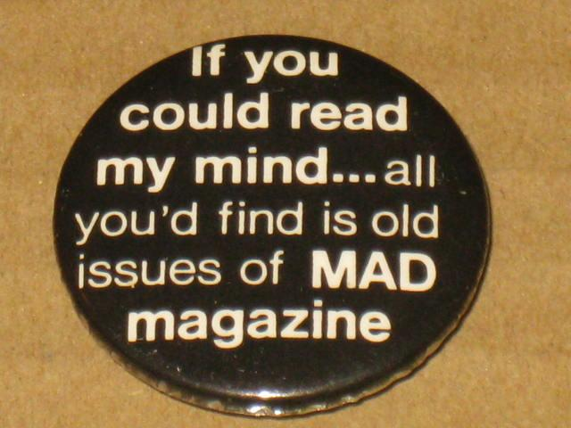 Duck & Cover MAD Magazine Pinback Button • USA