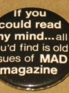 Image of Duck & Cover MAD Magazine Pinback Button