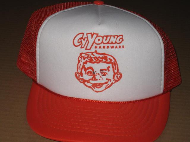 Cy Young Hardware Mesh Truckers Hat • USA