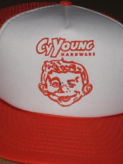Go to Cy Young Hardware Mesh Truckers Hat • USA