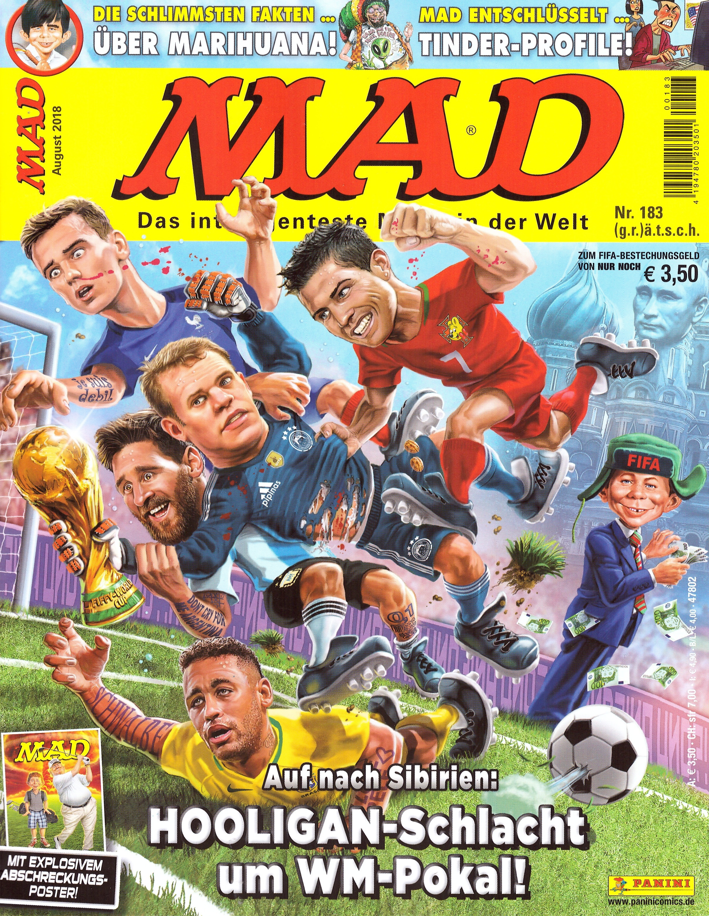 MAD Magazine #183 • Germany • 2nd Edition - Dino/Panini