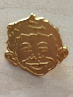 Go to Pin Golden Alfred E. Neuman Face • USA