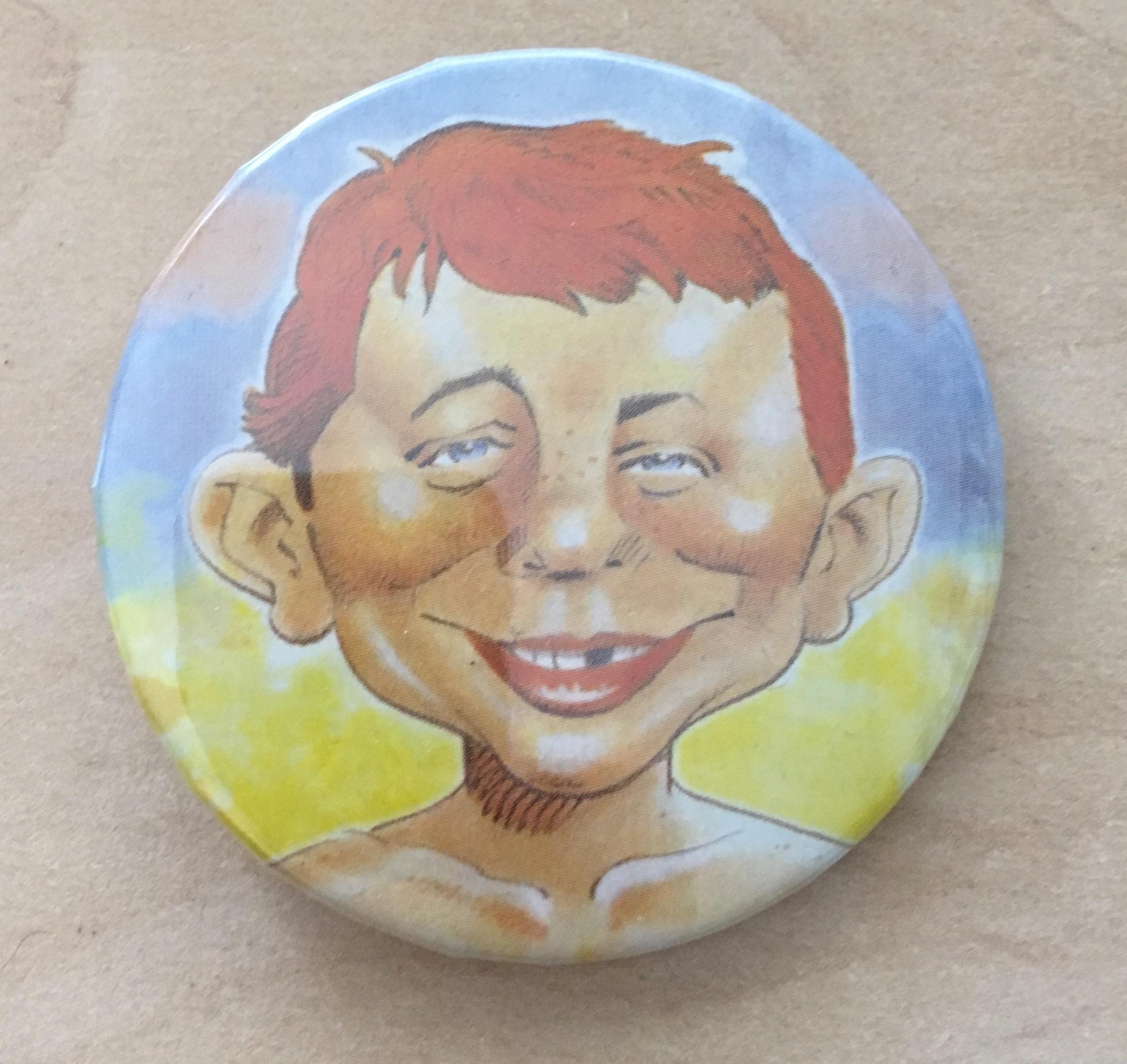 Pinback Button Alfred E. Neuman Colored • USA