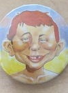 Pinback Button Alfred E. Neuman Colored • USA