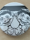 Image of Pinback Button Alfred E. Neuman Double headed b/w