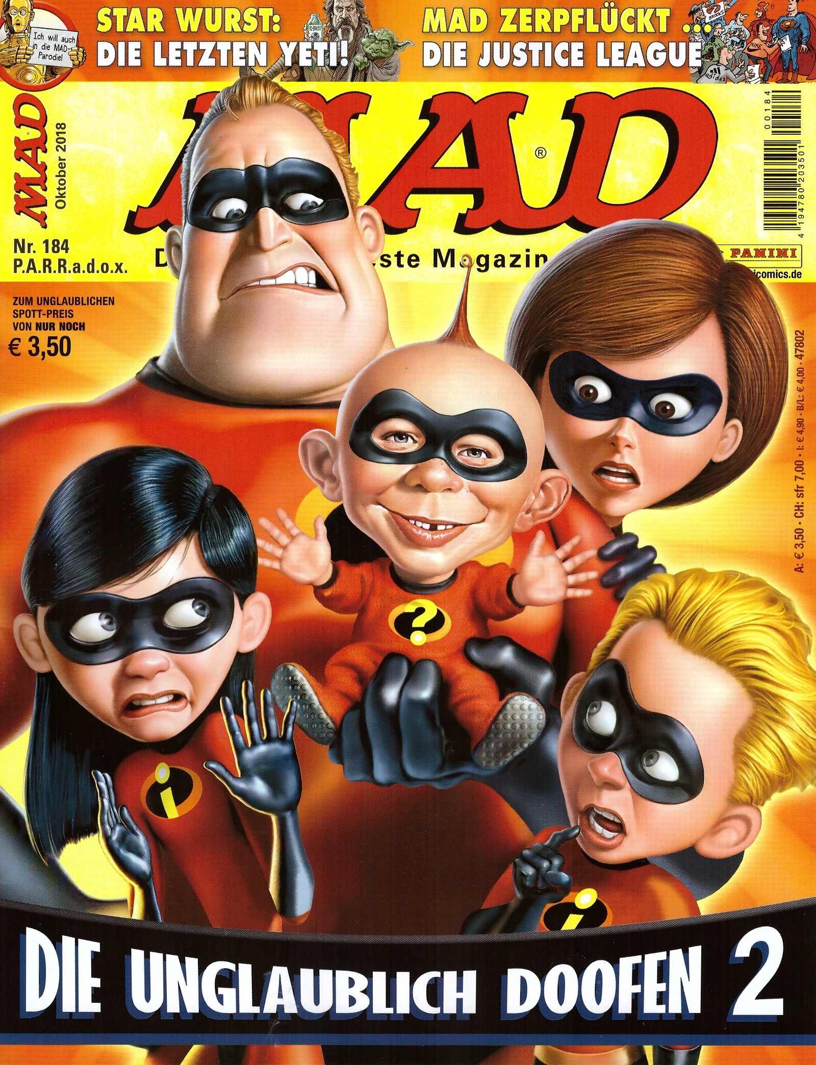 MAD Magazine #184 • Germany • 2nd Edition - Dino/Panini