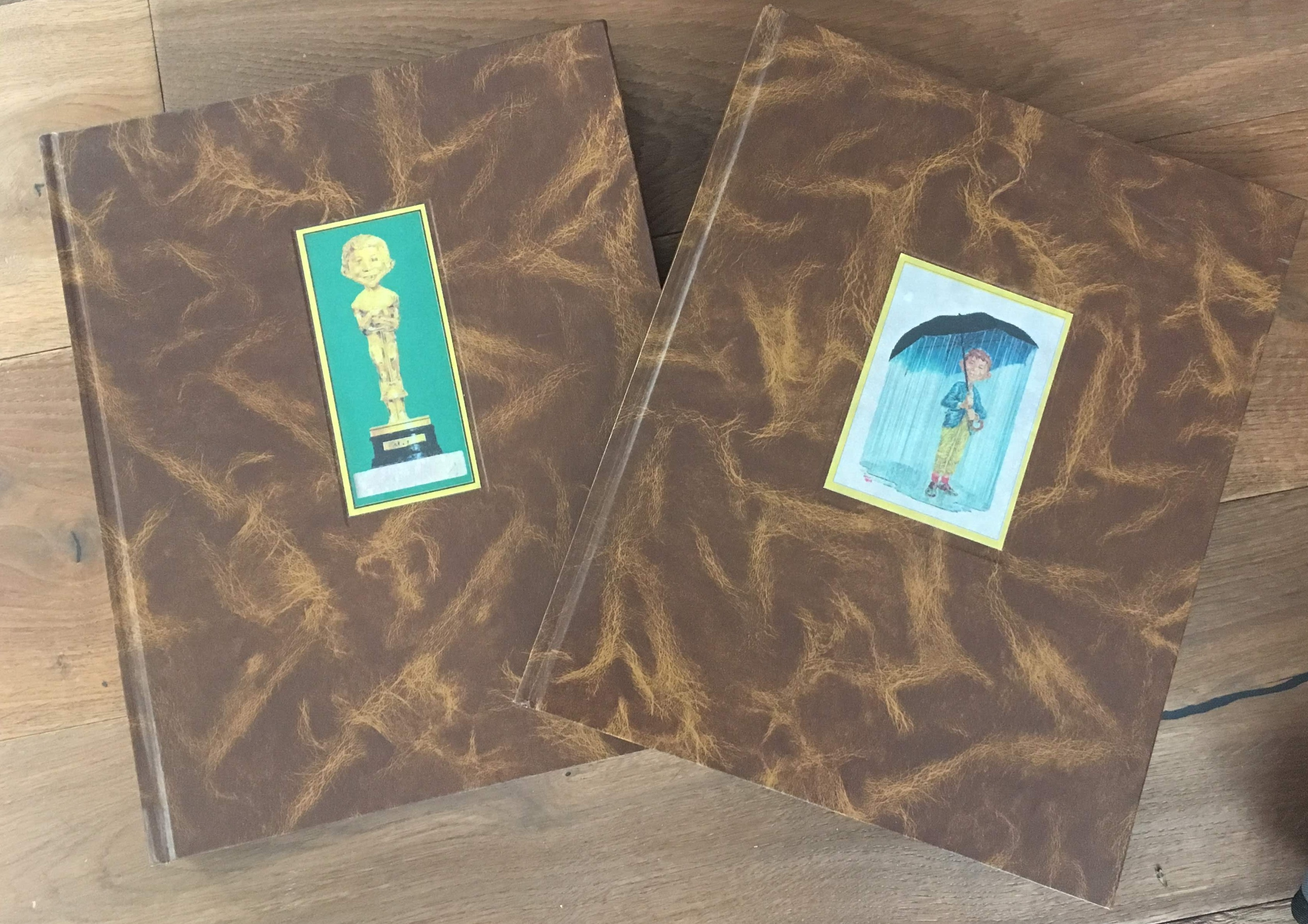 Set of 2 Large Fan Made MAD Magazine Books • Spain