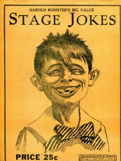 Go to Stage Jokes Book with Pre-MAD Alfred E. Neuman • USA