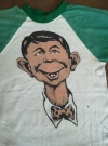 Longsleeve with pre MAD Alfred E. Neuman face • USA
