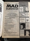 Image of School Yearbook MAD Survivor - Back Cover