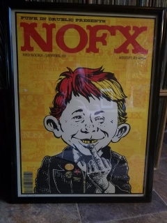 Go to NOFX Concert Poster with Alfred E. Neuman • USA