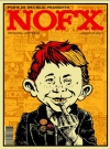 Image of NOFX Concert Poster with Alfred E. Neuman