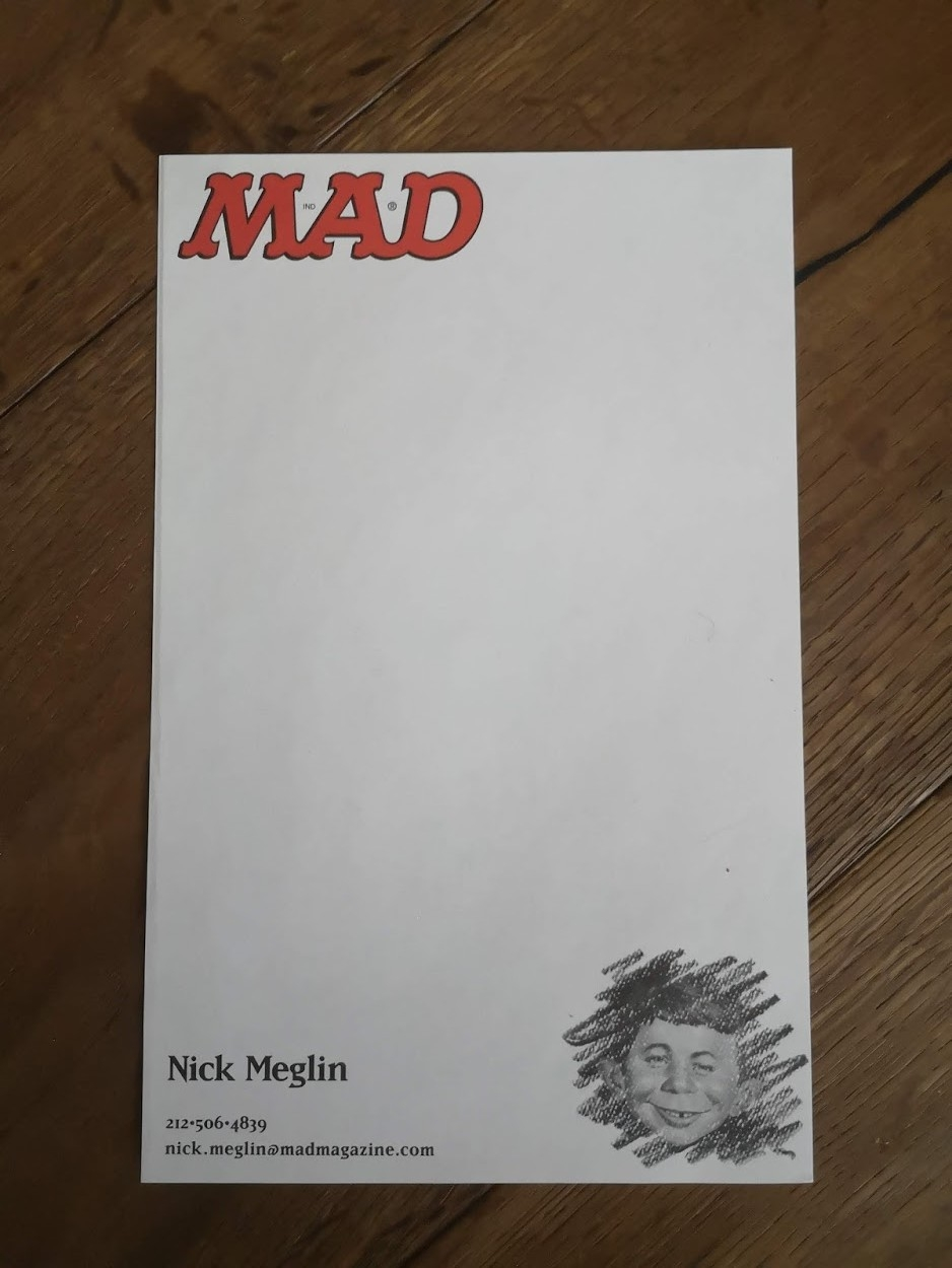 Nick Meglin Stationary • USA