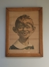 Pre MAD Framed Alfred E. Neuman Picture • USA