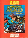 Image of L´Echo Des Savanes (with MAD Book promo) - Back Cover