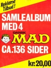 Image of Danish MAD Bound Volume - Back Cover