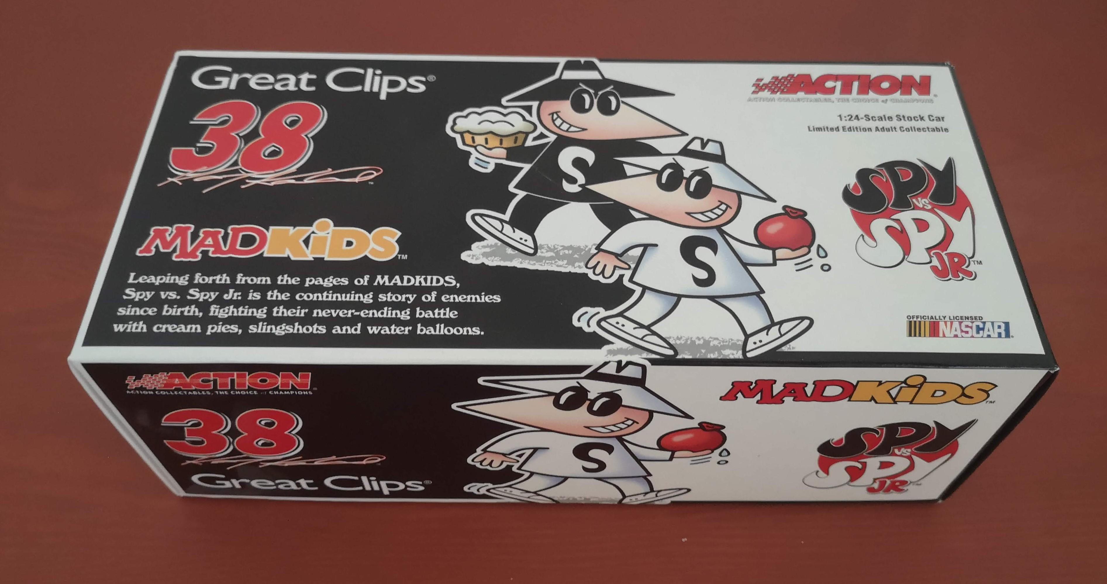 Kasey Kahne #38 Great Clips Spy Vs. Spy Jr Mad Kids 2005 Dodge Charger • USA