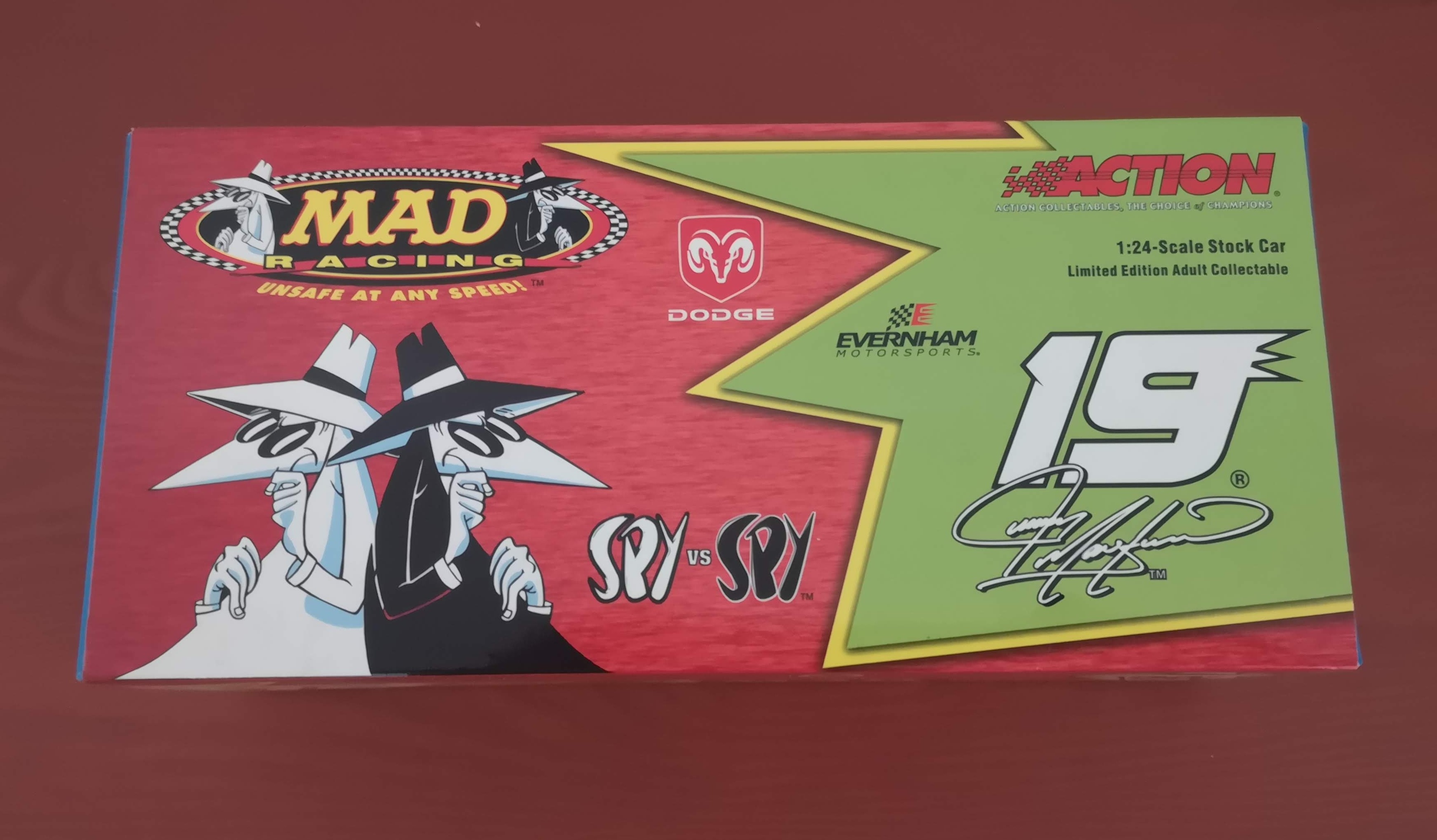 Jeremy Mayfield ACTION 1/24 Dodge Dealers #19 MAD Racing Spy vs Spy • USA