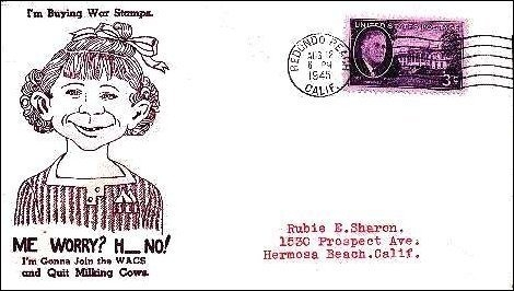 War Bonds Envelopes with Alfred E. Neuman • USA