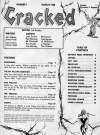 Image of Table of Contents from reprinted Cracked #1