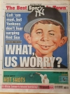 Image of NY POST Newspaper with Alfred E Neuman as Yankee Fan