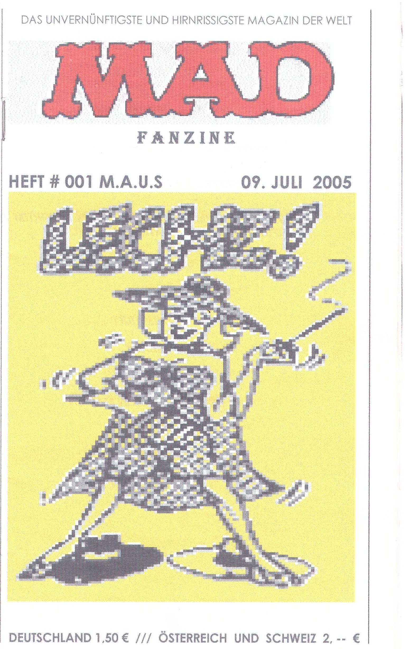 MAD Fanzine #1 • Germany