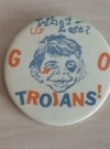 Trojans Football Button with Alfred E. Neuman