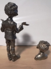 Image of 2 Pewter Alfred E. Neuman Figures