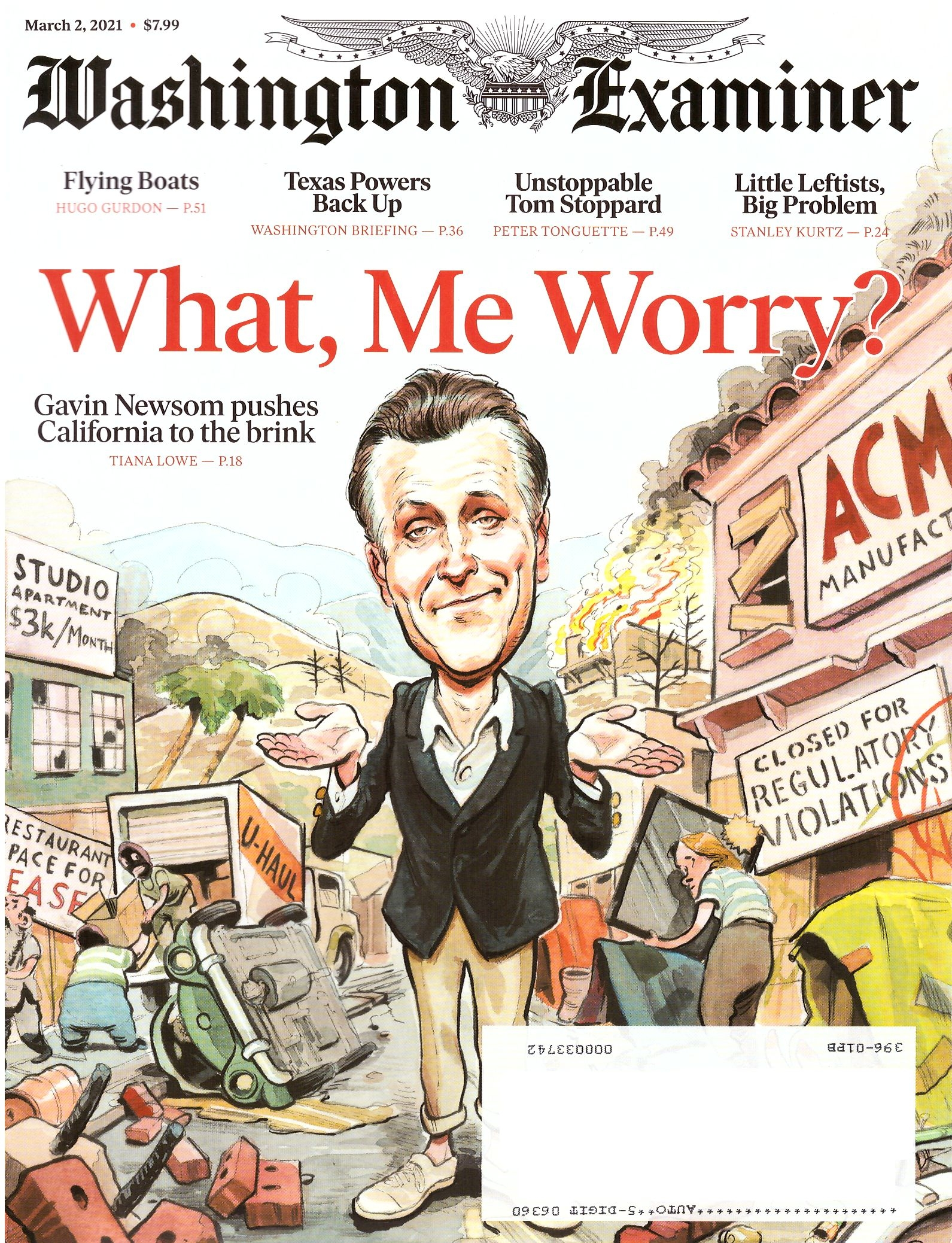 Washington Examiner with What, Me Worry? Cover • USA
