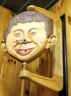 Wooden Alfred E. Neuman Face Wall Clock • USA