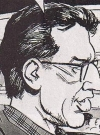 """Image of Jeff Goldblum in """"It's Depense Day"""", MAD #350, by Dick DeBartolo and Angelo Torres."""
