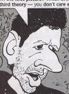 "Image of Jeff Goldblum by Paul Coker,Jr in the spoof ""Last Word on Jurass-Has-Had-It Park"", MAD #361, by Dick DeBartolo"