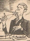 "Image of Johnny Carson in ""A MAD Look at Big-Time TV"", MAD #239, written and Drawn by Paul Peter Porges."
