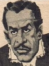 Drawn Picture of Vincent Price