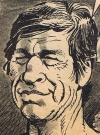 """Image of Charles Bronson in """"The Sandpiper"""" from 1964. The MAD spoof called """"Sinpiper"""", issue #101, by Larry Siegel and Mort Drucker."""