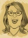 "Image of Rick Tulkas Illustration of Roseanne for ""Inside MAD"""