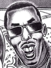 "Image of Puff Daddy by Mike Snider and Rick Tulka for the MAD article ""Modern Celebrity Couple Dilemmas"" from MAD #397"