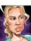 "Image of Katherine Heigl in the MAD spoof ""Groin's Monotony"" from MAD #472 drawn by Tom Richmond"