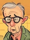 "Image of Woody Allen in ""Two and a Half Men Rejects"" from the Australian MAD #467 by Dan Liebke and Anton Emdin"