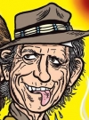 Drawn Picture of Keith Richards