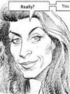 Drawn Picture of Kirstie Alley