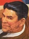 Drawn Picture of Ronald Reagan