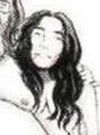 Drawn Picture of Yoko Ono