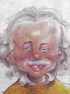 Drawn Picture of Albert Einstein