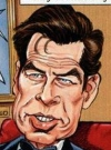 Drawn Picture of Pierce Brosnan
