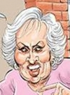 Drawn Picture of Doris Roberts
